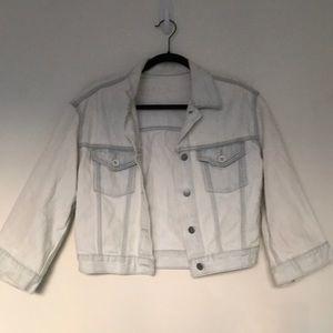 Gap Cropped Acid-Wash Denim Jacket